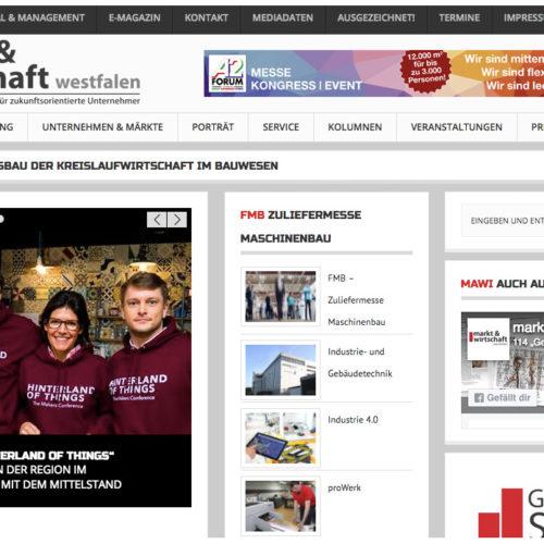 Hinterland of Things Press Markt & Wirtschaft Westfalen