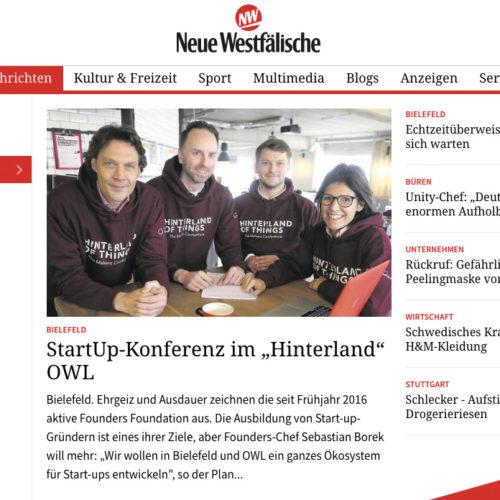 Hinterland of Things Press Neue Westfälische