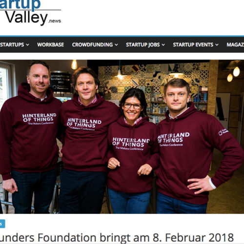 Hinterland of Things Press Startup Valley