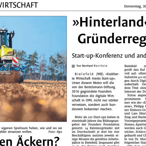 Hinterland of Things Press Westfalen Blatt